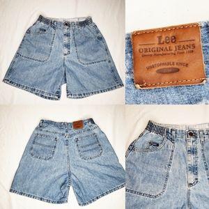 Vintage Lee Original Denim Jeans Shorts High Rise